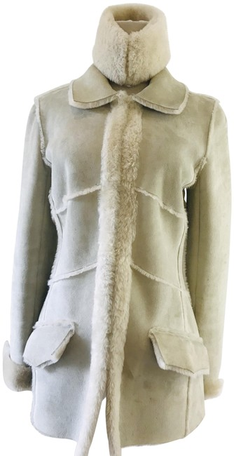 Item - Taupe Shearling Jacket Size 4 (S)