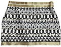 May & July Black White Gold Geometric Sequin Skirt Size 8 (M, 29, 30) May & July Black White Gold Geometric Sequin Skirt Size 8 (M, 29, 30) Image 1