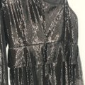 Aidan by Aidan Mattox Black One Shoulder Sequin Cropped Peplum Jumpsuit Long Cocktail Dress Size 12 (L) Aidan by Aidan Mattox Black One Shoulder Sequin Cropped Peplum Jumpsuit Long Cocktail Dress Size 12 (L) Image 9