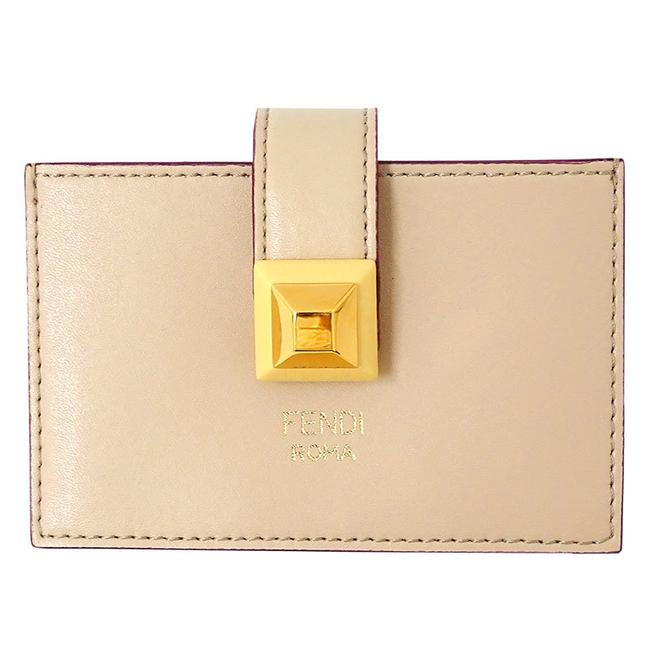 Item - Beige / Pink Card Case Pass Ladies Leather 8m0301-swd Wallet