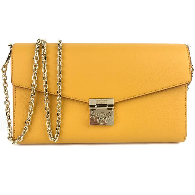 Item - New Mini Logo Yellow Coated Canvas and Leather Cross Body Bag