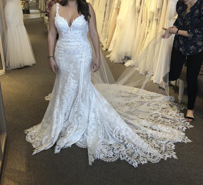 Item - Ivory Lace Over Honey Gown French-inspired Style #905 Sexy Wedding Dress Size 8 (M)