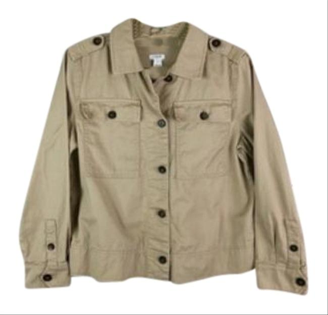 Item - Tan Safari Shirt Woman Jacket Size 4 (S)
