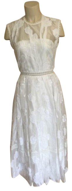 Item - White Unique And Mid-length Casual Maxi Dress Size 8 (M)