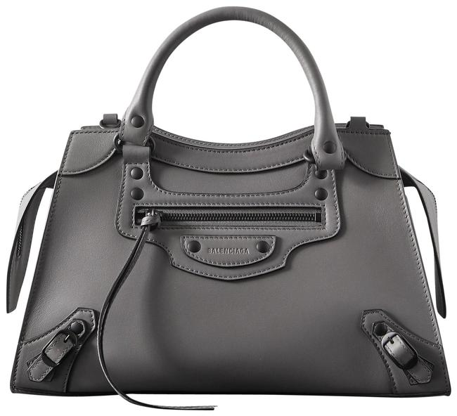 Item - Neo Classic Gray Leather Tote