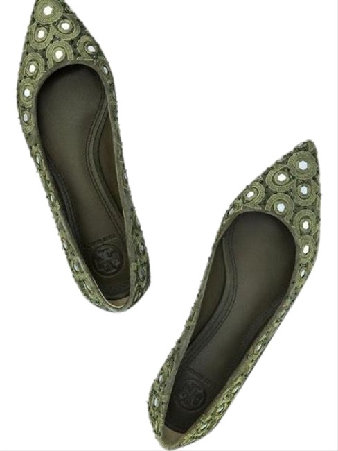 Item - Green Yasmin Flats Size US 5.5 Regular (M, B)