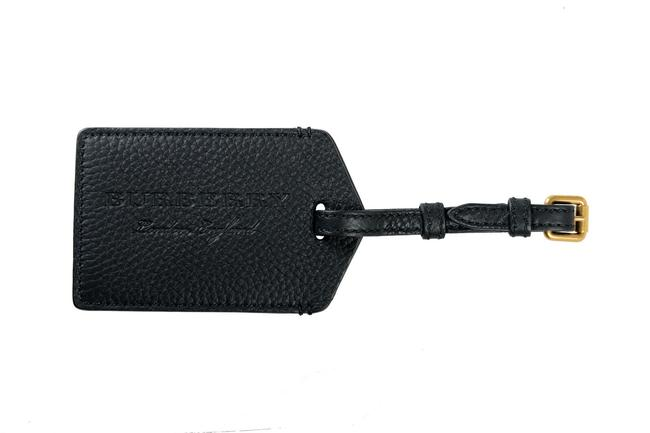 Item - Black Pebbled Leather Luggage Tag