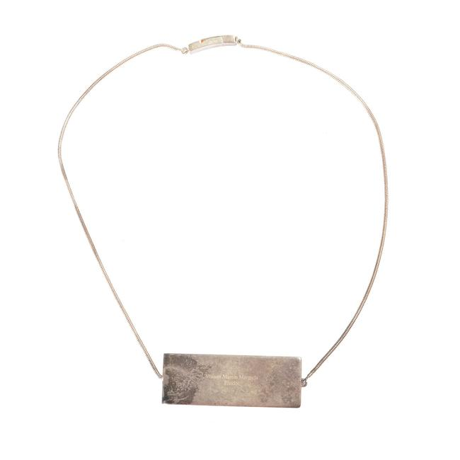 Maison Margiela Silver Metal Distressed Look Necklace Maison Margiela Silver Metal Distressed Look Necklace Image 1