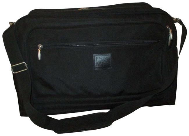 Item - Garment Black Canvas with Leather Weekend/Travel Bag