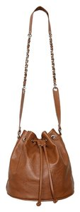 Other Faux Leather Drawstring Bucket Cross Body Bag