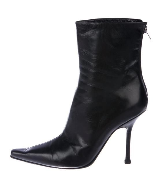 Item - Black Sz5.5/6 Lily 100mm Leather Pointy-toed Ankle Boots/Booties Size EU 36.5 (Approx. US 6.5) Narrow (Aa, N)