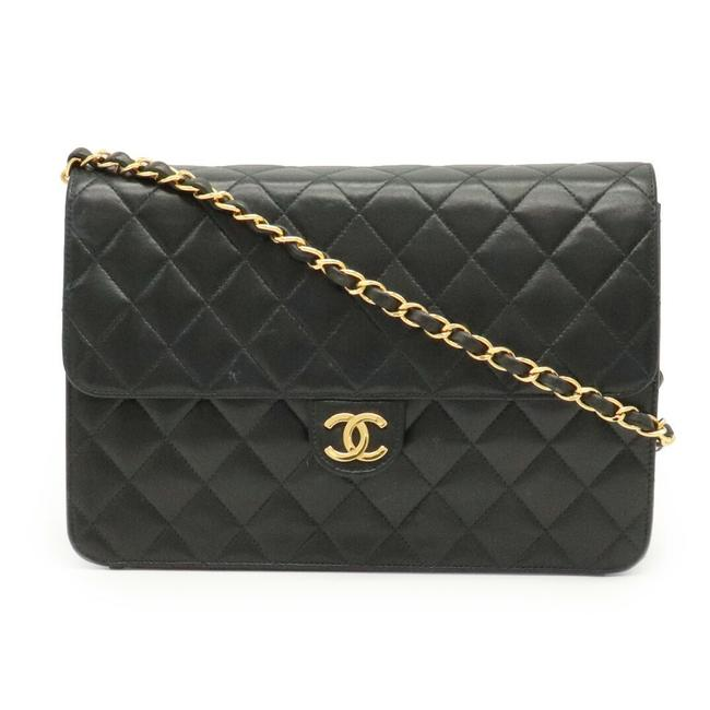 Chanel Chain Coco Mark Matrasse Single Lambskin Gold Hardware Black Leather Shoulder Bag Chanel Chain Coco Mark Matrasse Single Lambskin Gold Hardware Black Leather Shoulder Bag Image 1