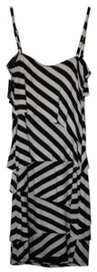 INC International Concepts short dress Black/White Stripped on Tradesy