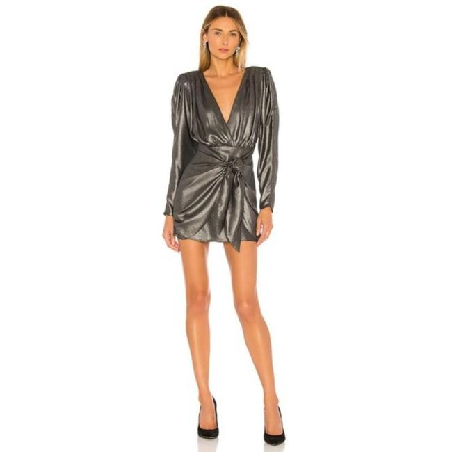 Item - Gray Silver L The Dore Short Cocktail Dress Size 4 (S)