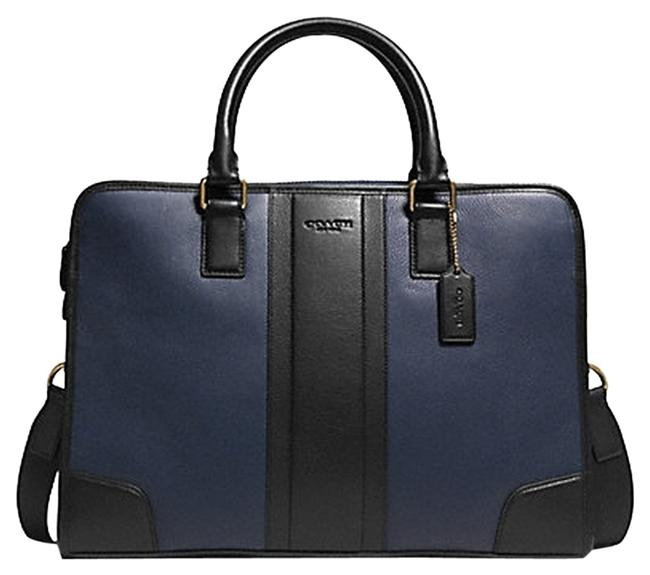 Item - Mens Director Brief In Bombe F71639 Navy/Black Leather Laptop Bag