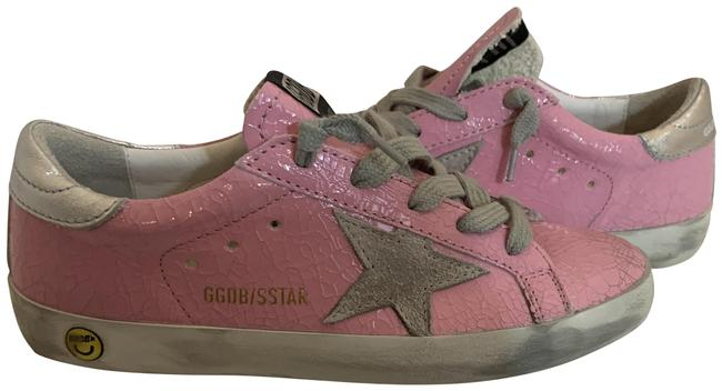 Item - Pink 81020 Glossy Crackled Superstar 33 Sneakers Size EU 34 (Approx. US 4) Regular (M, B)