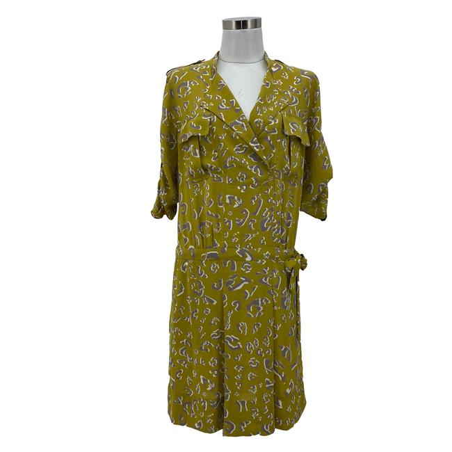 Item - Green Grey XS N450 Bcbg Max Azria Designer Leopard Print Mid-length Casual Maxi Dress Size 2 (XS)