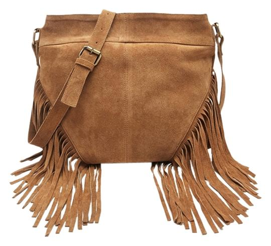 Preload https://item2.tradesy.com/images/fringed-suede-shoulder-tan-leather-cross-body-bag-2806576-0-0.jpg?width=440&height=440