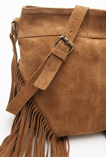 Other Fringed Suede Shoulder Leather Cross Body Bag