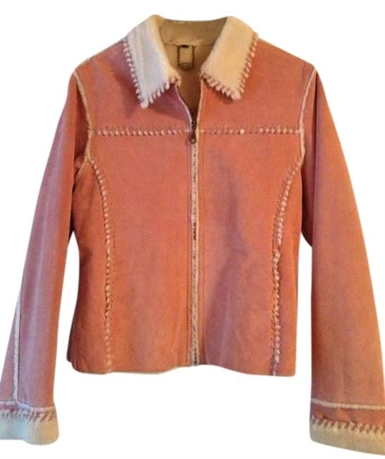 Tanners Avenue NY pink/cream Leather Jacket