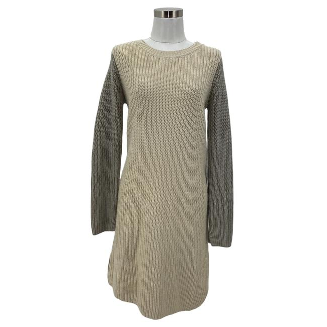 Item - Beige Gray XS N365 Bcbg Max Azria Designer Knit Sweater Mid-length Casual Maxi Dress Size 2 (XS)