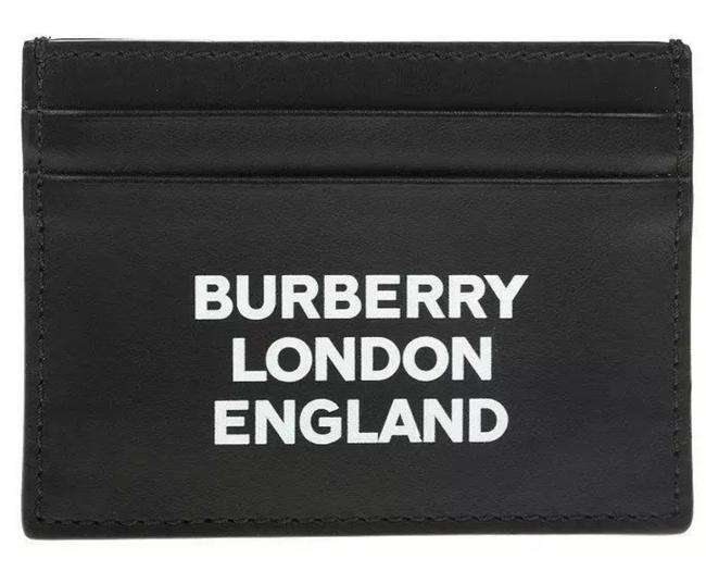 Item - Black and White New Leather Logo Embroider Card Case Wallet
