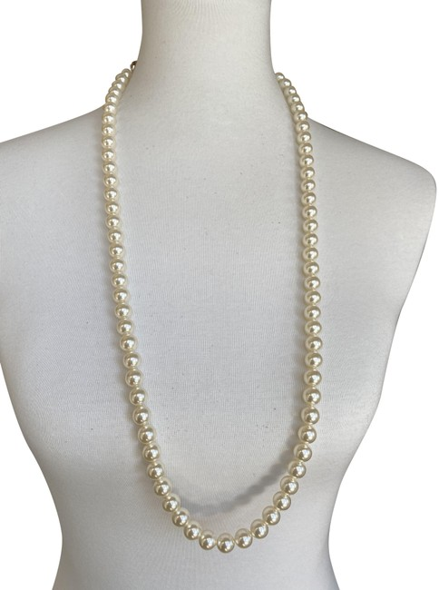 Item - Cream Pearl New Adjustable Long Necklace