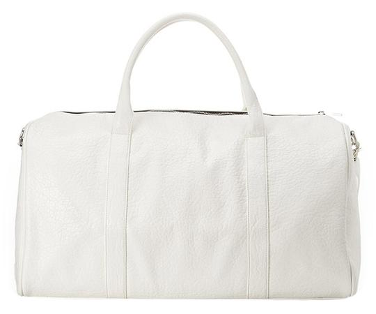 Other Faux Duffle White Travel Bag