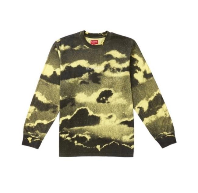 Item - Yellow Clouds Long Sleeve Pale Tee Shirt Size 8 (M)