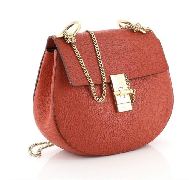Item - Shoulder Drew Small Red Lambskin Leather Cross Body Bag