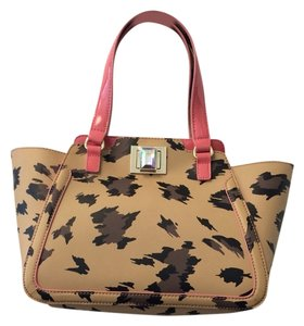 Juicy Couture Pink Leather Jeweled Tote in Natural Leopard