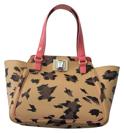 Juicy Couture Pink Leather Jeweled Animal Print Tote in Natural Leopard