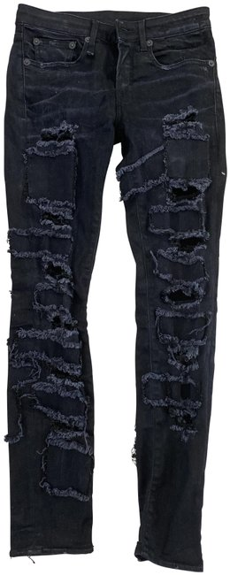 Item - Black Distressed Alison Frayed Ripped Skinny Jeans Size 26 (2, XS)