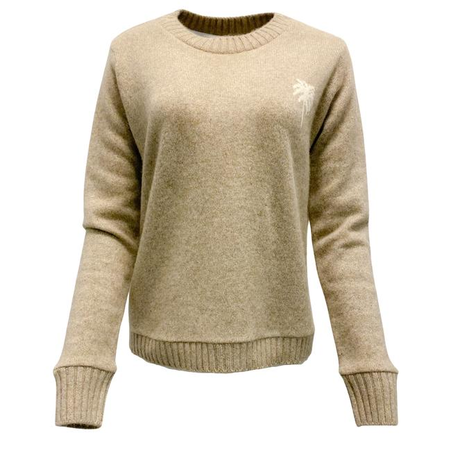Item - Palm Tree Cashmere Oatmeal and Ivory Sweater