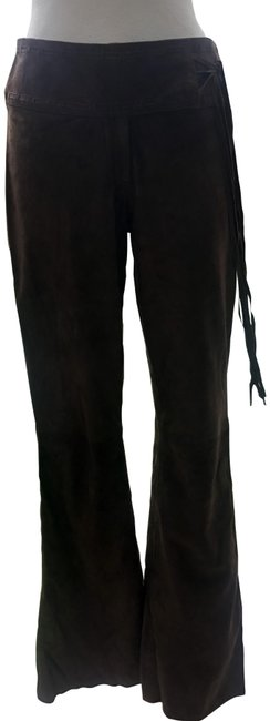 Item - Brown XS Butter Suede Leather 2/4 Xs/S Fringe Self Belt Lined Pants Size 2 (XS, 26)