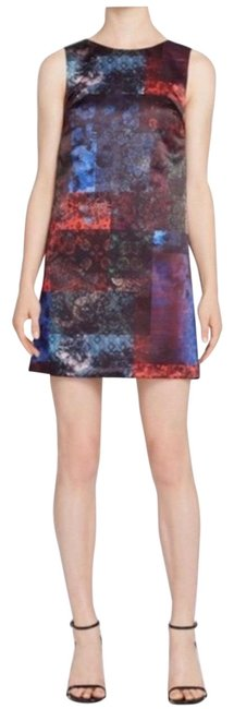 Item - Green Clyde Patchwork Print Shift Mid-length Cocktail Dress Size 6 (S)