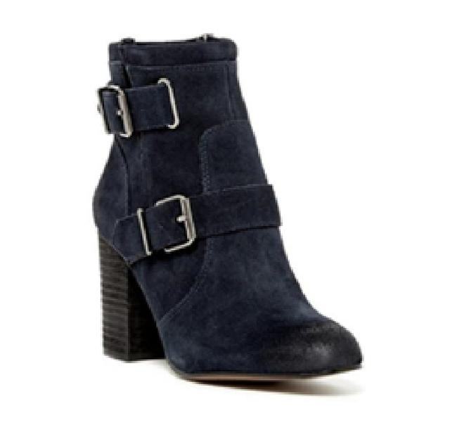 Item - Navy Blue 'simlee' Buckle Boots/Booties Size US 9 Regular (M, B)