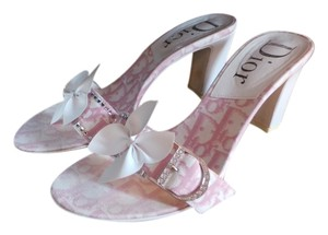 Dior Pink/White Mules