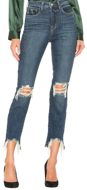 Item - Classic Vintage Blue Distressed Highline Decon Torn Skinny Jeans Size 0 (XS, 25)