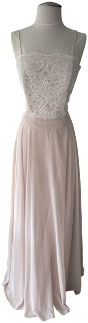 Item - Cameo/Ivory Lace Style # 6732 Long Formal Dress Size 10 (M)