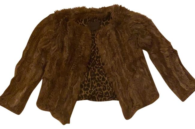 Item - Brown/Tan Cropped Jacket Coat Size 4 (S)