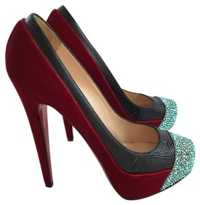 Christian Louboutin Calypso Runway Rare Vintage Red Pumps