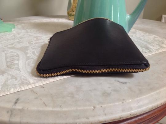 Deux Cuirs Stoweaway Silk & Leather Can Convert To A Zippered Pouch/clutch Tote in Black