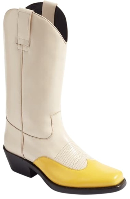 Item - Cream and Yellow 205w39nyc Boots/Booties Size US 7.5 Regular (M, B)