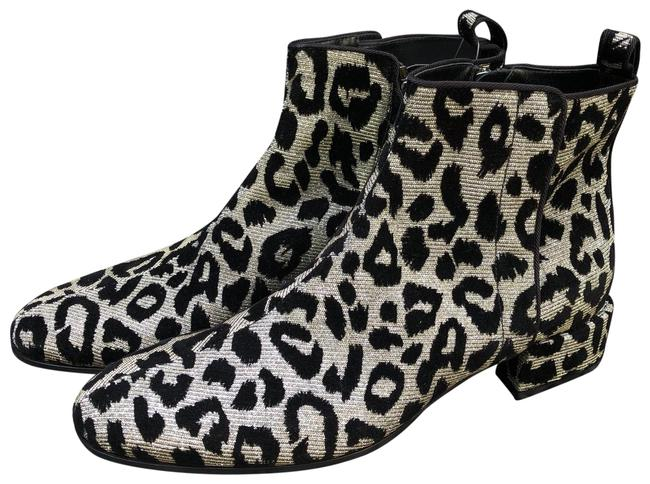 Item - Silver Black New Dolce and Gabbana Chelsea Leopard Color Changing Fabric Ankle Boots/Booties Size EU 36 (Approx. US 6) Regular (M, B)