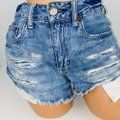 American Eagle Outfitters Blue Hi Rise Festival Jean Shorts Size 4 (S, 27) American Eagle Outfitters Blue Hi Rise Festival Jean Shorts Size 4 (S, 27) Image 2
