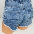 American Eagle Outfitters Blue Hi Rise Festival Jean Shorts Size 4 (S, 27) American Eagle Outfitters Blue Hi Rise Festival Jean Shorts Size 4 (S, 27) Image 5