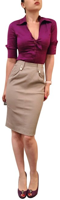 Item - Light Gray Silver Lock Pencil 40 Skirt Size 4 (S, 27)