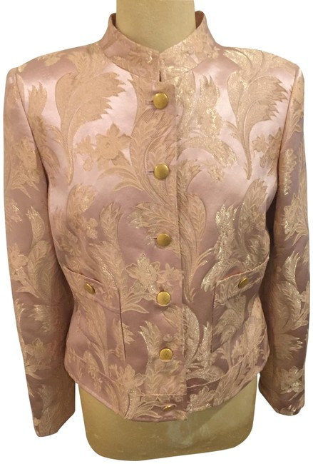 Item - Peach/Gold Floral Jacket Size 6 (S)