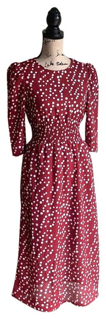 Hayden Red Angeles and White Polka Long Casual Maxi Dress Size 4 (S) Hayden Red Angeles and White Polka Long Casual Maxi Dress Size 4 (S) Image 1